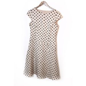 Anne Klein fit and flare polka dot dress Sz 8